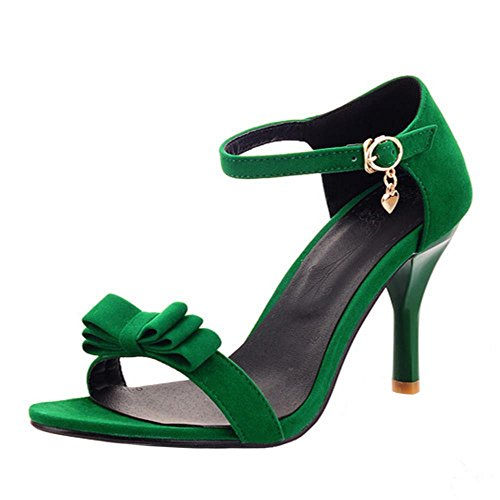 green Sandales Femmes RAZAMAZA Talons Bride Cheville qXUSnBwPf