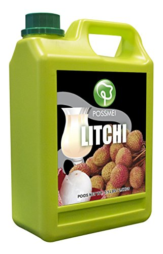 Possmei Flavored Syrup, Litchi, 5.5 Pound (Lychee Syrup)