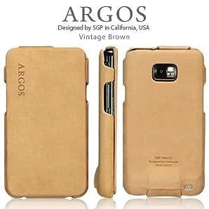 SGP ギャラクシー S 2 ケース ARGOS 【 ビンテージ・ブラウン 】 本革 Galaxy S2 sc 02c ケース