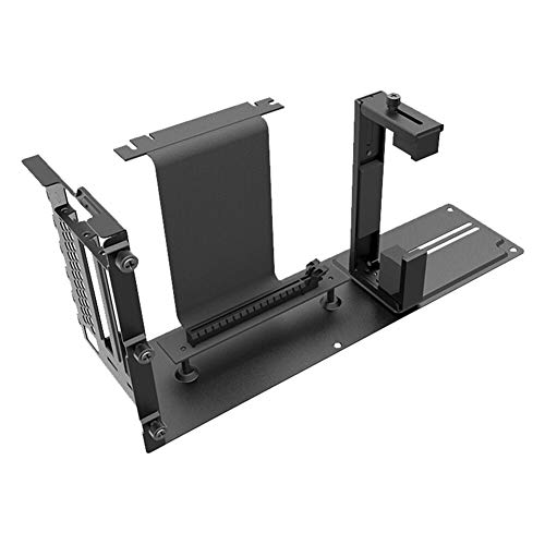 Metal GPU Vertical Bracket Mount PCIe Graphics Card Stand Holder for PC Chassis Computer Case with PCIE Extension Cable