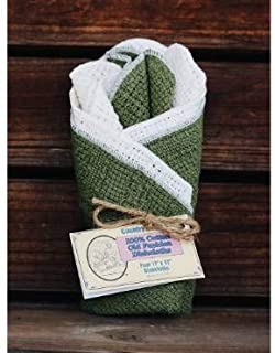 product image for 100% Cotton Dishcloths - Sage/Natural