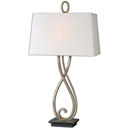 Antiqued Table Lamp Scroll - Uttermost 26341 Ferndale Scroll Metal Lamp, Bronze