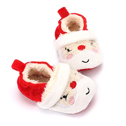 Image of Estamico Baby Toddler Boys Girls Santa Claus Christmas Slippers Warm Plush Shoes 6-12 Months
