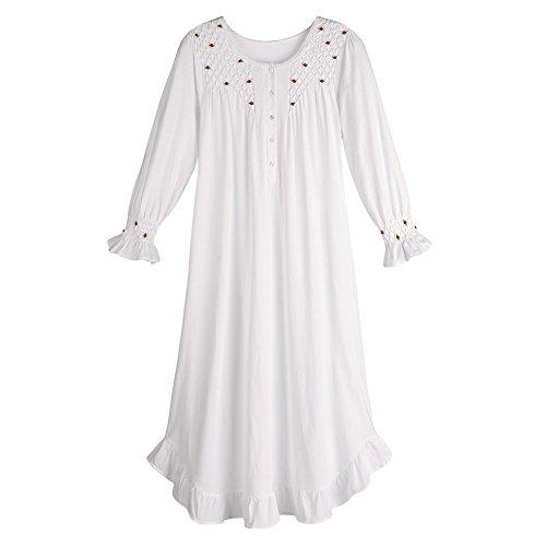 Cheap La Cera Women's Long Sleeve Cotton Nightgown hot sale