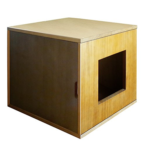 Philociety Solid Natural Wood Cat Litter Box Enclosure Furniture Price Reviews User Ratings