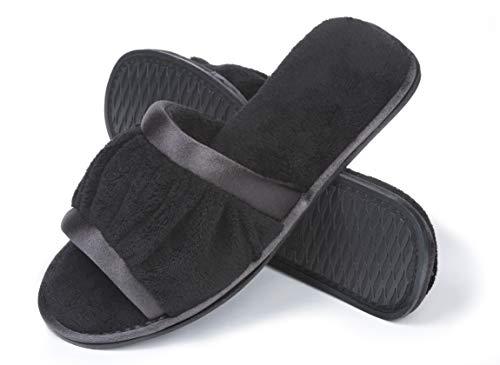 Pictures of Roxoni Women's Open Toe Slide Slipper ; 2173 Black 1