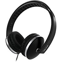 On Ear Headphones with Mic, Jelly Comb Foldable Corded...