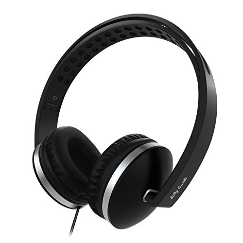 On Ear Headphones with Mic, Jelly Comb Foldable Corded Headphones Wired Headsets with Microphone, Volume Control for Cell Phone, Tablet, PC, Laptop, MP3/4