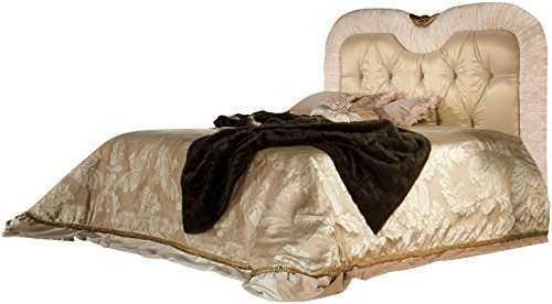 Camas, bed mod. Matilda, luxurious bed with special processing in quilted. Bedspread and net not included.