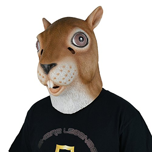LarpGears Latex Squirrel Mask Full Head Animal Mask
