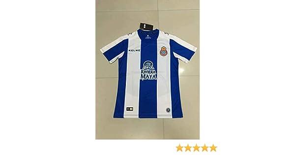 BROOK Espanyol Home Soccer Jersey 2019-2020 (White&Blue, L ...