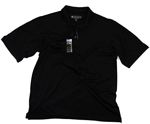 Pebble Beach Men's Performance Pima Blend Golf Shirt Black X-Large ()
