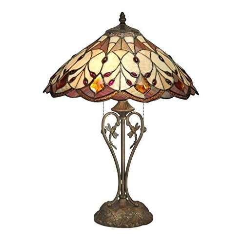 Dale Tiffany TT70699 Marshall Table Lamp, Antique Brass and Art Glass ()