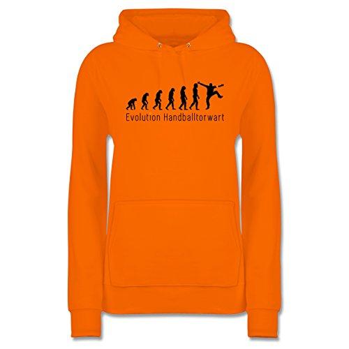 Shirtracer Evolution - Handballtorwart Evolution - Damen Hoodie Orange 0NU4CX