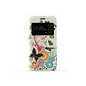 qyf The Butterfly And Flowers Pattern PU Leather Full Body Case with Stand and Card Slot for Samsung Galaxy S5 Mini