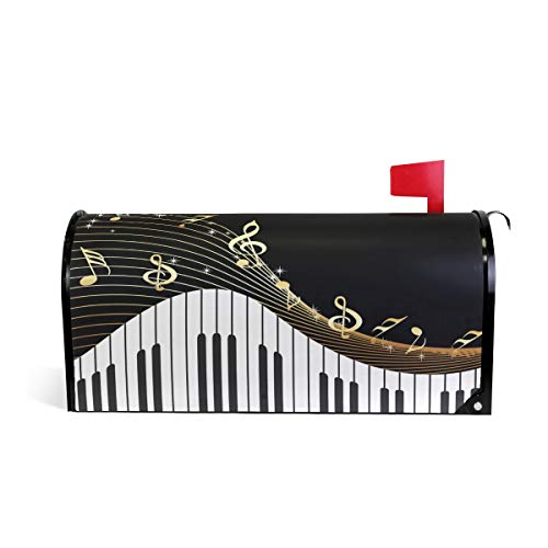 Music Notes Piano Magnetic Mailbox Cover Standard Size-18