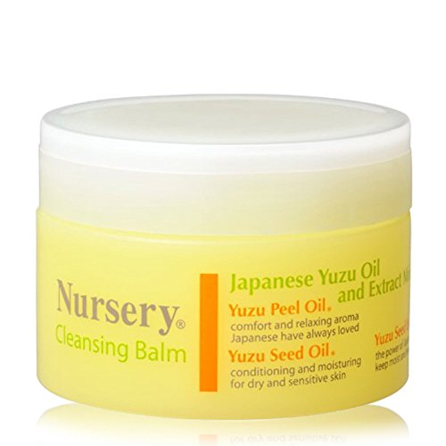 Japanese Cosme Nursery Cleansing Balm Yuzu Peel Oil and Seed Oil Extract, Makeup remover cream, facial massage cream