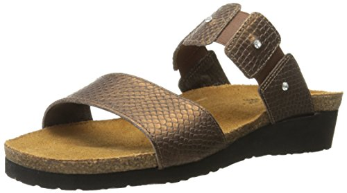 NAOT Women Ashley Wedge Sandal Brown lizard
