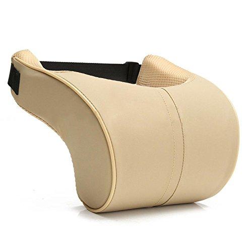 NPLE--2x Car Pillows Auto Seat Head Neck Rest Leather Cushion Pad HeadRest Foam - Life Thug Zelda
