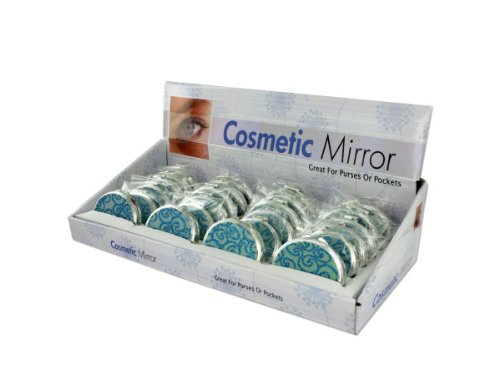 Glittering compact mirror display ( Case of 48 )