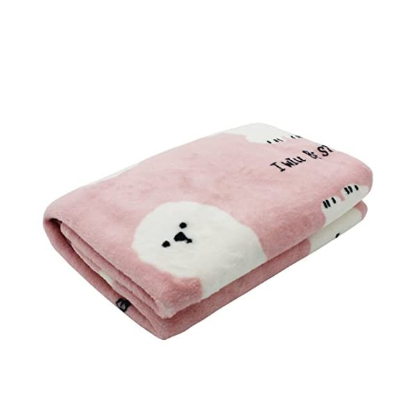 (Bichon) – Scheppend Cosy Cuddly Pet Fleece Blanket Dogs Cats Bed Throws for Couch,Car Backseat,Crate,Kennel and Carrier Click on image for further info.