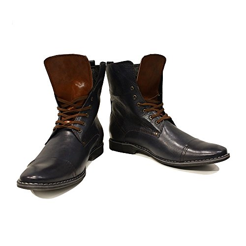 well-wreapped Black & Brown High Boots Men's Elegant Shoes - Handmade Colorful Italian Leather Unique High Boots Lace Up Men's Shoes