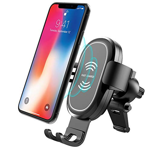 Wireless Car Charger, ABKUL Adjustable Air Vent Phone Holder for Any Qi-Enabled Smartphone