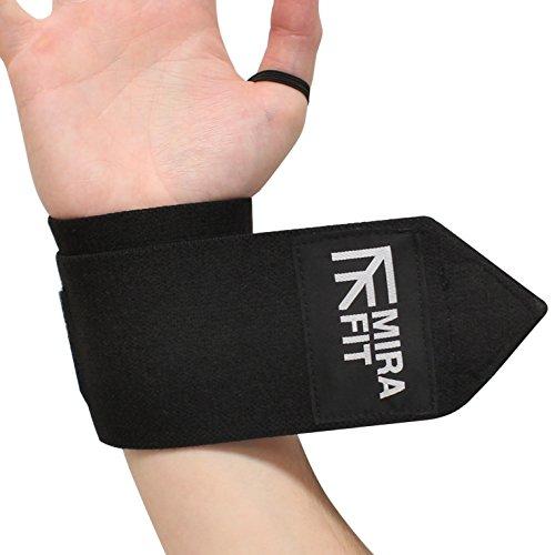 MiraFit Gamme Pro Sangles de Poignet pour Halterophile - Serre-poignet Musculation