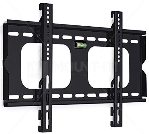 Mount-It! Low Profile Fixed Plasma & LCD TV Mount Compatible Samsung, Sony, LG, Panasonic TVs, Black