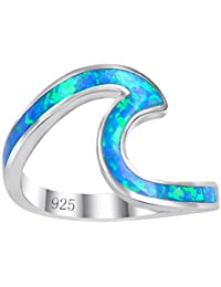 Chic 925 Sterling Silver Wave Cut Girl Ring,Designed for...