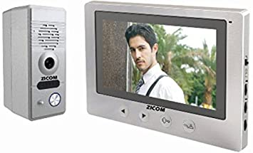 "Zicom 7"" Colour Video Door Phone with Digital PhotoFrame Door Hardware & Locks at amazon"