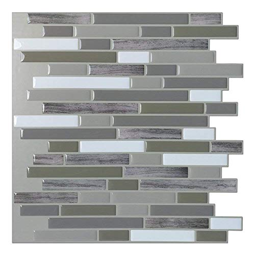 Art3d Peel and Stick Wall Tile for Kitchen/Bathroom Backsplash, 12