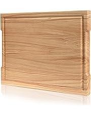 Blattbaum Premium houten plank, klein of groot beschikbaar, antislip, sapgoot, Duitse merkkwaliteit, snijplank hout, keukenplank, houten snijplank, bakplank, mesvriendelijk, handwerk