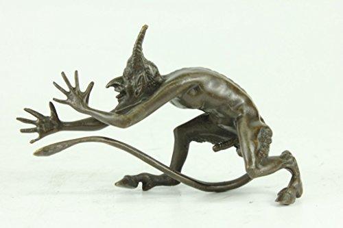 Handmade European Bronze Sculpture Satyr