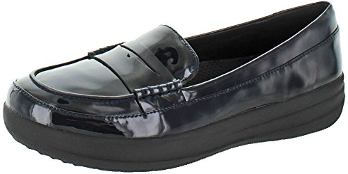 UK Penny Sporty Patent Marino Mujer FitFlop F 3 Loafers SuperAzul qwBYIA8