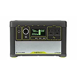 Goal Zero Yeti 400 Lithium Portable Power Station, 428Wh Rechargeable Generator and Backup Power Source with 300 Watt (1200 Watt Surge) AC inverter, USB, 12V Outputs