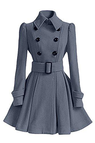 Longues De De Manches Minetom Gris Manteau Veste College Manteau Jacket Coat D'hiver Coton Hiver Parka Femme qYRE8YWAHt