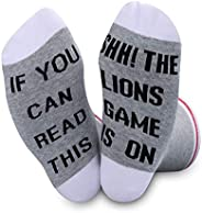 If You Can Read This Shh The Game is On Football Fans Gift Novelty Socks for Fans