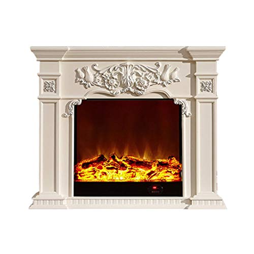 Cheap Liu Weiqin Fireplaces Simulated fire Electronic Household Electric Fireplace Decoration Cabinet 1.5 m 800 1000 Ivory (Color : B Size : Heating core) Black Friday & Cyber Monday 2019