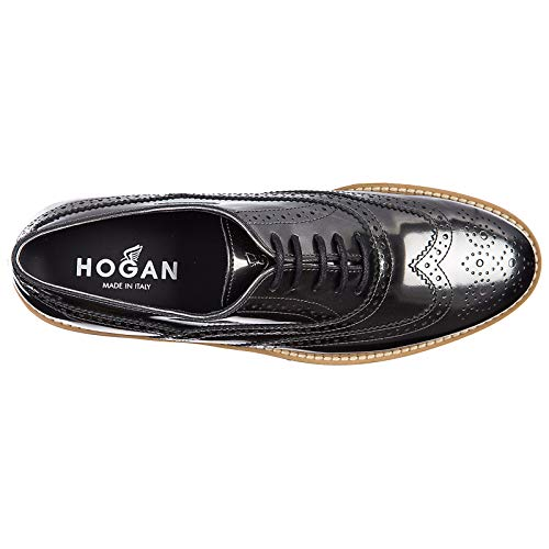 h259 Scarpe Donna Francesina Pelle in buca Nuove Classiche Route Hogan Stringate HdqZw00x