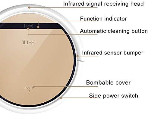 Aspirateur Domestique, aspirateur Robot Portable, aspirateur Silencieux, Puissant, Ultra-Mince, aspirateur Robot Auto-Rechargeable