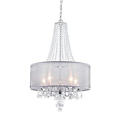 CLAXY Ecopower Lighting Modern Chrome Crystal Chandeliers -5 lights