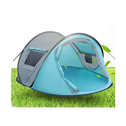 Sallymonday Imported 2-4 Person Outdoor Tent Automatically Pops Up, Lightweight Portable Beach Tent Sunscreen UV Protection Windproof and Waterproof Hiking Mountaineering Travel