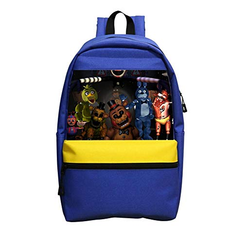 Fuxejin Kids School Backpacks,Fi-Ve Nig-HtS At Fr-ED-dYs Casual Printed Bookbag Hipster Satchel for Boys Girls