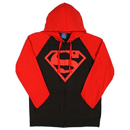 DC Comics Superboy Hoodie 2XL Size : XX-Large