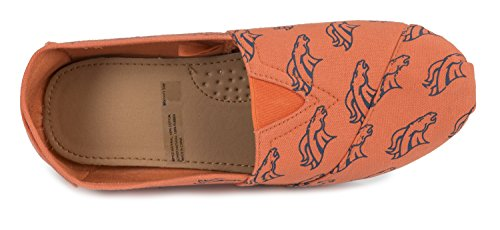 Womens Shoes Pick Collectibles Summer on Slip Team 2015 Nfl Denver Forever Ladies Football Broncos Canvas qtnv4wvafc