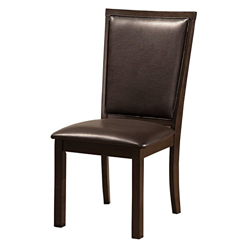 Alpine Furniture Davenport Dining Chairs (Set of 2) Alpine Leather Chair