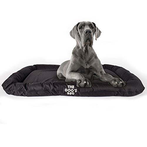 The Dog's Bed, Premium Waterproof Dog Bed, S to XXL Quality Oxford Fabric, Removable Washable Cover, Grey Brown Green Black Biscuit Blue Pink Dog Beds for Home Car & Outside, Puppy & All Pet Comfort by The Dog's Balls