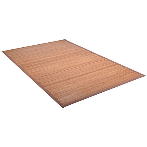 5' X 8' Bamboo Area Rug Floor Carpet Natural Bamboo Wood Indoor Outdoor New Durable Natural Bamboo Construction Easy To Clean And Durable by Unknown (Image #1)