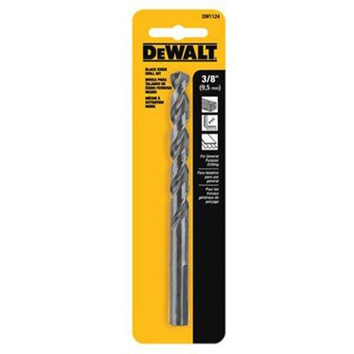 Black DEWALT DW1124 3//8 Oxide Bit